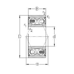 17 mm x 47 mm x 22,2 mm  NKE 3303-B-2Z-TV angular contact ball bearings