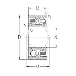 17 mm x 47 mm x 22,2 mm  NKE 3303-B-TV angular contact ball bearings