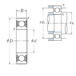 20 mm x 42 mm x 12 mm  NSK 6004VV deep groove ball bearings