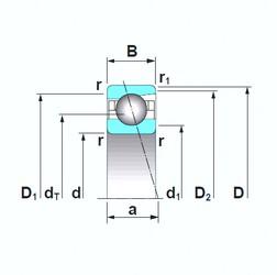 20 mm x 42 mm x 12 mm  NSK 7004CTRSU angular contact ball bearings