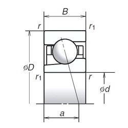 20 mm x 42 mm x 12 mm  NSK 20BGR10X angular contact ball bearings