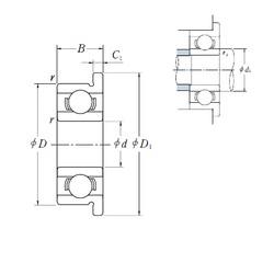 3,175 mm x 9,525 mm x 3,967 mm  ISO FR2 deep groove ball bearings