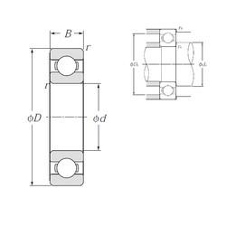 20 mm x 42 mm x 12 mm  NTN 6004 deep groove ball bearings
