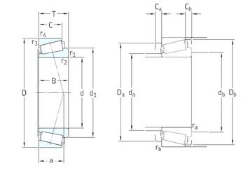 35 mm x 62 mm x 17 mm  SKF 32007J2/Q tapered roller bearings