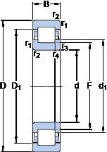 65 mm x 120 mm x 23 mm  SKF NUP 213 ECP thrust ball bearings