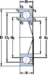 65 mm x 120 mm x 23 mm  SKF 7213 ACD/P4A angular contact ball bearings