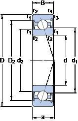 35 mm x 62 mm x 14 mm  SKF S7007 CE/HCP4A angular contact ball bearings