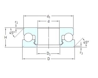 SKF 51207V/HR22Q2 thrust ball bearings