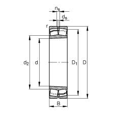 120 mm x 200 mm x 62 mm  FAG 23124-E1-K-TVPB spherical roller bearings