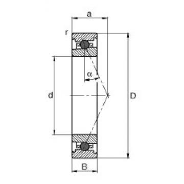 65 mm x 100 mm x 18 mm  FAG HC7013-E-T-P4S angular contact ball bearings