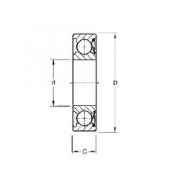 65 mm x 100 mm x 18 mm  Timken 9113P deep groove ball bearings