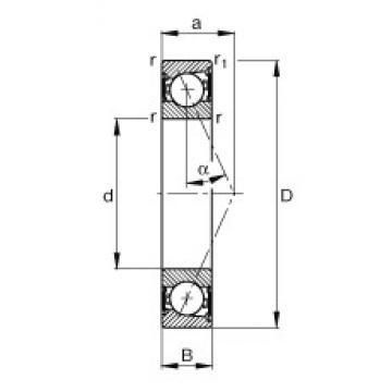65 mm x 100 mm x 18 mm  FAG B7013-E-2RSD-T-P4S angular contact ball bearings