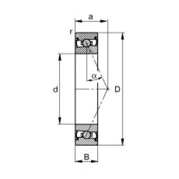 20 mm x 42 mm x 12 mm  FAG HCS7004-E-T-P4S angular contact ball bearings