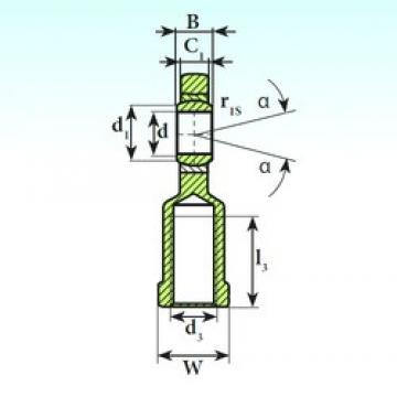 20 mm x 35 mm x 16 mm  ISB SI 20 C plain bearings