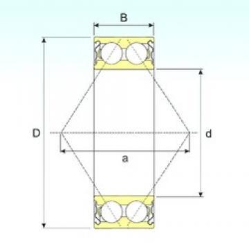 70 mm x 150 mm x 63,5 mm  ISB 3314-ZZ angular contact ball bearings