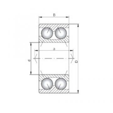 Loyal 3303 angular contact ball bearings