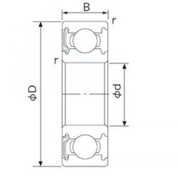 20 mm x 42 mm x 12 mm  NACHI 6004NKE deep groove ball bearings