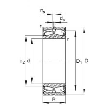 150 mm x 225 mm x 75 mm  FAG 24030-E1-2VSR spherical roller bearings