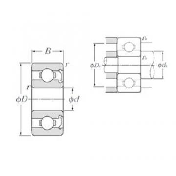 3,175 mm x 9,525 mm x 3,967 mm  NTN RA2ZA deep groove ball bearings