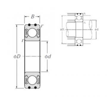 20 mm x 42 mm x 12 mm  NTN AC-6004LLB deep groove ball bearings