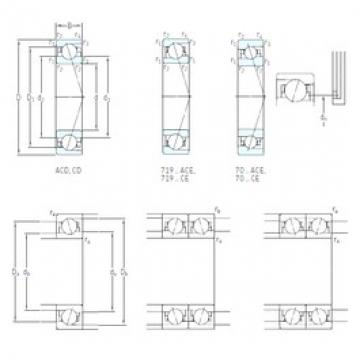 65 mm x 100 mm x 18 mm  SKF 7013 ACB/HCP4A angular contact ball bearings