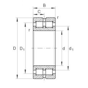 380 mm x 520 mm x 140 mm  INA SL014976 cylindrical roller bearings