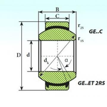 20 mm x 35 mm x 16 mm  ISB GE 20 C plain bearings