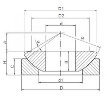 180 mm x 320 mm x 70 mm  ISO GW 180 plain bearings