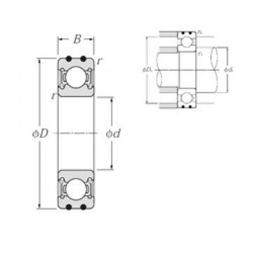 20 mm x 42 mm x 12 mm  NTN AC-6004LLU deep groove ball bearings