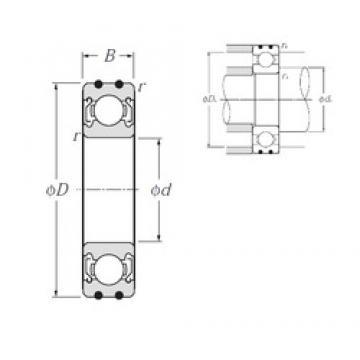 20 mm x 42 mm x 12 mm  NTN AC-6004ZZ deep groove ball bearings