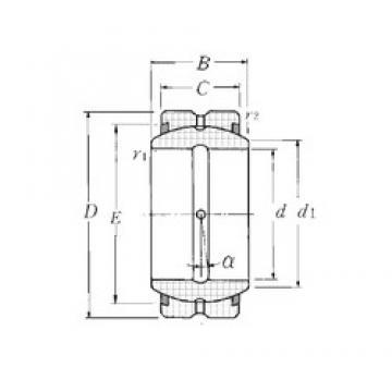 20 mm x 35 mm x 16 mm  NTN SA1-20BSS plain bearings