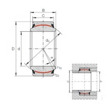 20 mm x 35 mm x 16 mm  INA GE 20 UK-2RS plain bearings