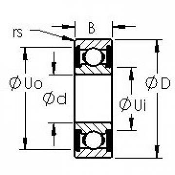 AST 6013-2RS deep groove ball bearings