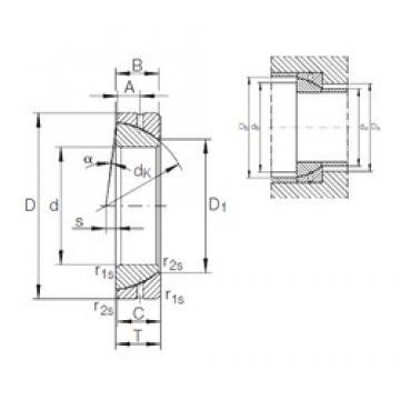 35 mm x 62 mm x 17 mm  INA GE 35 SX plain bearings