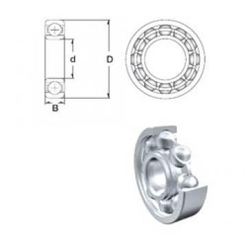 3,175 mm x 9,525 mm x 3,967 mm  ZEN R2-2Z deep groove ball bearings