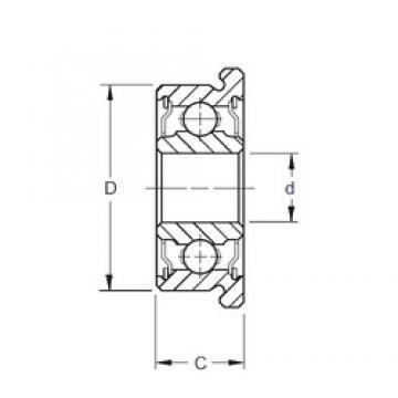 3,175 mm x 9,525 mm x 3,967 mm  ZEN SFR2 deep groove ball bearings