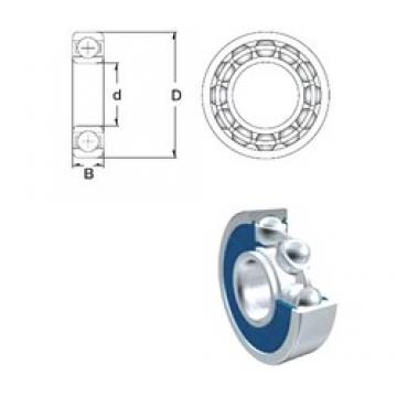 20 mm x 42 mm x 12 mm  ZEN 6004-2RS deep groove ball bearings