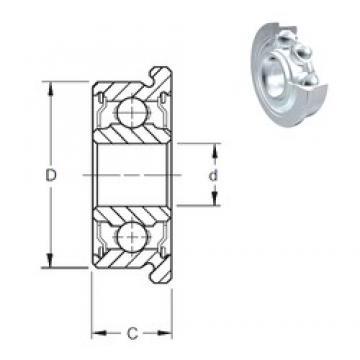 3,175 mm x 9,525 mm x 3,967 mm  ZEN FR2-2Z deep groove ball bearings