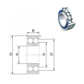 17 mm x 47 mm x 22,2 mm  ZEN S3303-2RS angular contact ball bearings