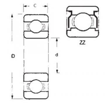 20 mm x 42 mm x 12 mm  FBJ 6004ZZ deep groove ball bearings
