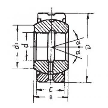20 mm x 35 mm x 16 mm  FBJ GE20ES-2RS plain bearings
