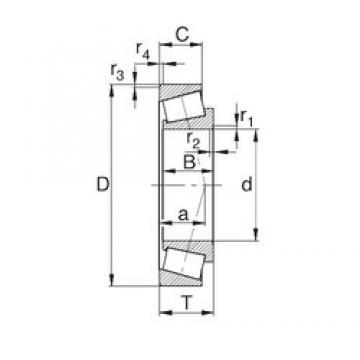 35 mm x 62 mm x 18 mm  KBC 32007XJ tapered roller bearings