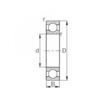 20 mm x 42 mm x 12 mm  KBC 6004 deep groove ball bearings