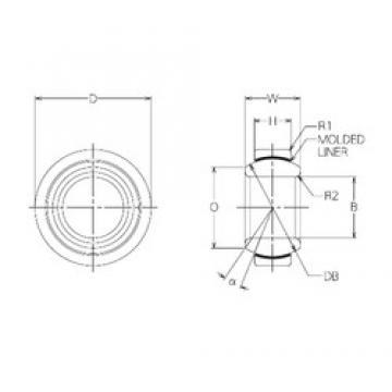 20 mm x 35 mm x 16 mm  NMB BM20 plain bearings