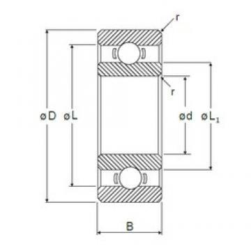 3,175 mm x 9,525 mm x 3,967 mm  NMB R-2 deep groove ball bearings