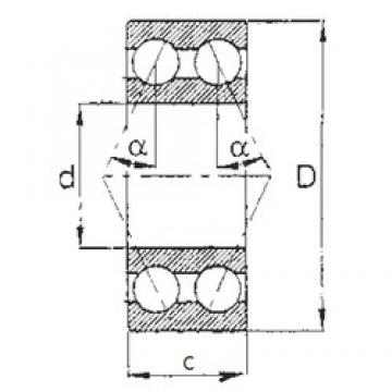 17 mm x 47 mm x 22,2 mm  FBJ 5303 angular contact ball bearings