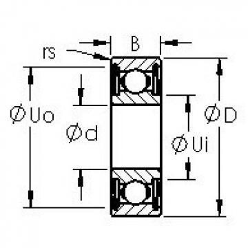 AST 6013ZZ deep groove ball bearings