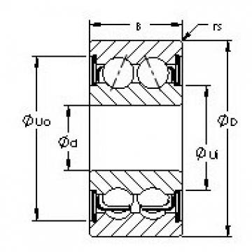 AST 5314ZZ angular contact ball bearings