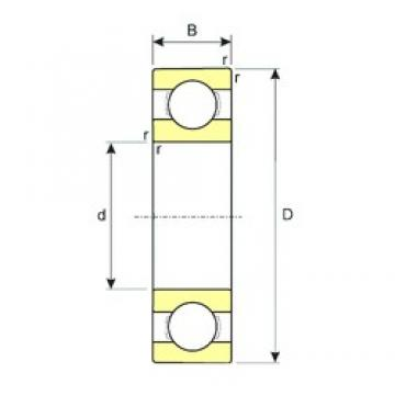 3,175 mm x 9,525 mm x 3,967 mm  ISB R2 deep groove ball bearings