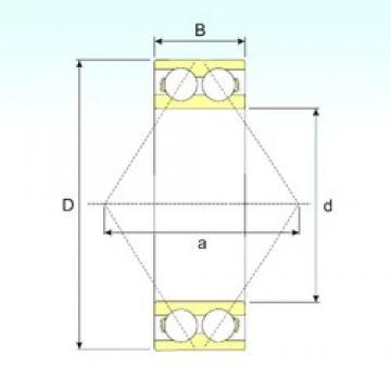 70 mm x 150 mm x 63,5 mm  ISB 3314 A angular contact ball bearings